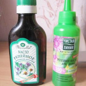 Виды масло для волос